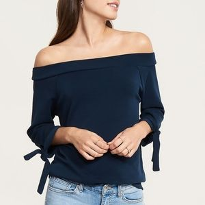 Dynamite Soft Off Shoulder Top with Ties XS